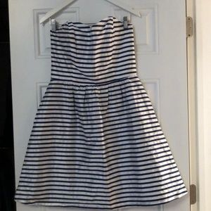 Lula Kate blue and white stripped dress NEVER WORN